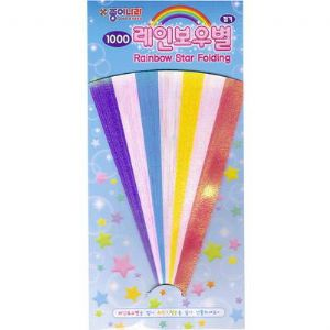 Lucky stars, Assorted colours, 15cm x 0.8cm, 56 sheets, (ok1195)